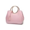 glossy pink handbag