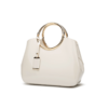 glossy white handbag
