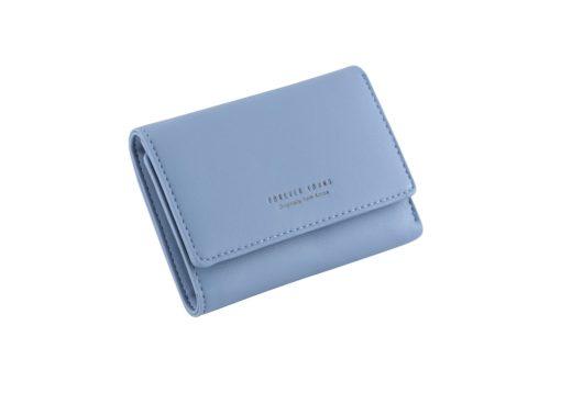 blue short wallet