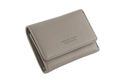 grey short wallet