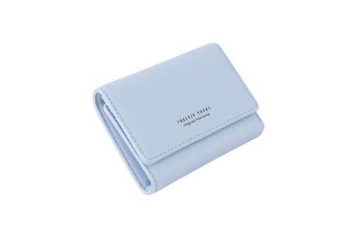 light green short wallet