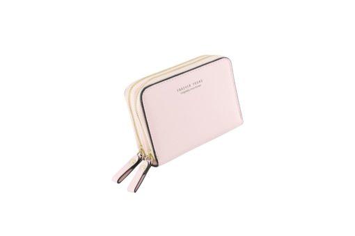 pink short wallet