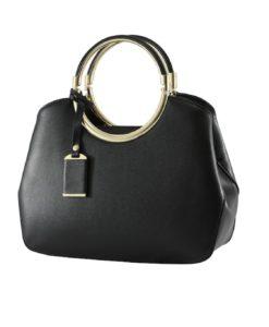 black matte handbag