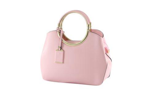 pink matte handbag