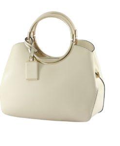 white matte handbag