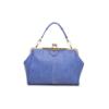blue matte handbag