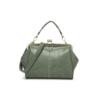 green matte handbag