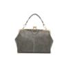 grey matte handbag