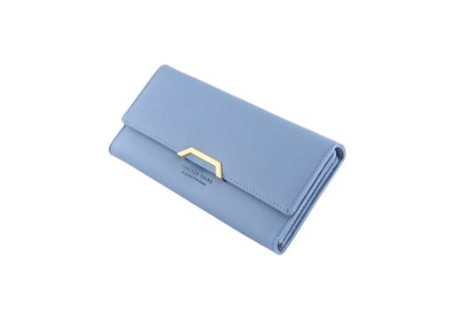 blue long wallet