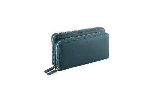 green long wallet