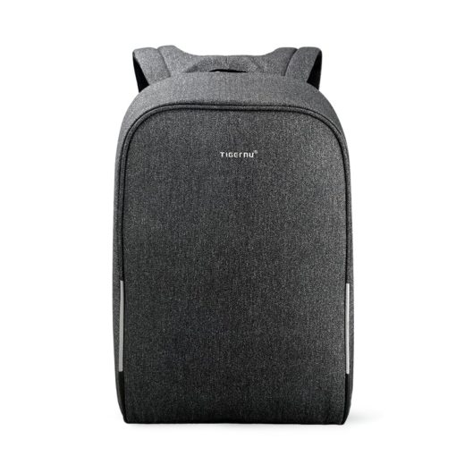 anti theft backpack black grey