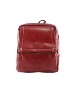red fashion backpack