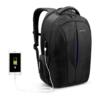 black & blue color laptop backpack