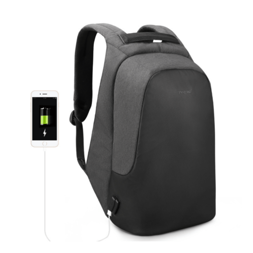 anti theft backpack with built-in usb extension