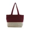 maroon color casual handbag