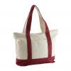 maroon color canvas handbag