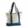 blue color canvas handbag