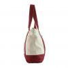 canvas handbag side view