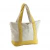 yellow color canvas handbag