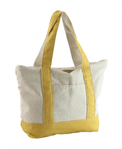 yellow color canvas handbag