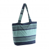 blue and green color casual handbag