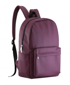 purple color PU leather casual backpack
