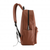 PU leather casual backpack side view
