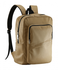beige color pu leather backpack