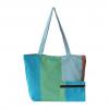 blue & green handloom handbag