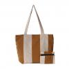 brown & beige handloom handbag