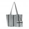 grey & black handloom handbag