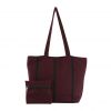 maroon & black handloom handbag