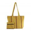 maroon & yellow handloom handbag
