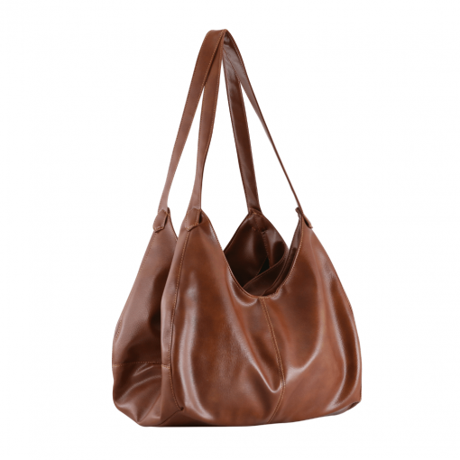 brown color handbag