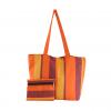orange & yellow handloom handbag