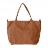 brown color large handbag